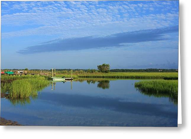 Tidal Marsh At Wrightsville Beach Greeting Card
