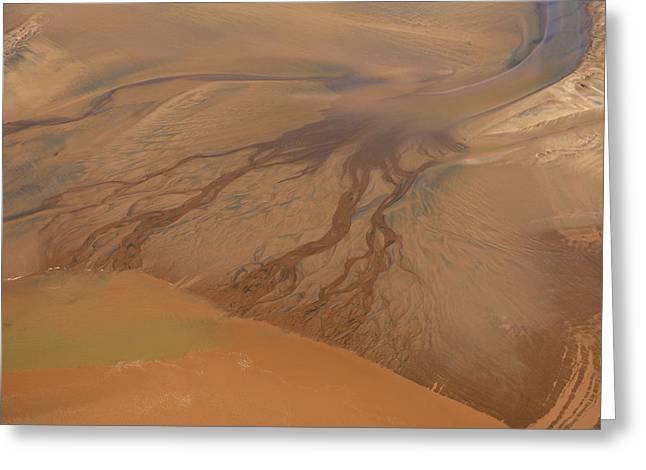 Tidal Wave Coming In Minas Basin, Nova Greeting Card by Bernard Dupuis