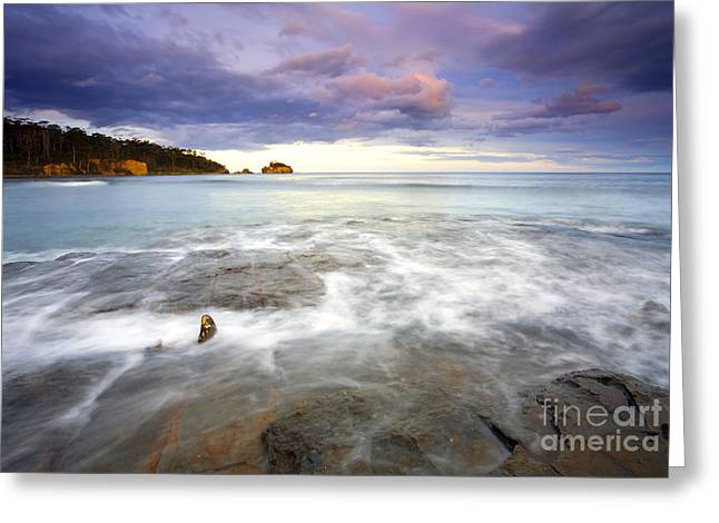 Tide Covered Pavement Greeting Card by Mike  Dawson