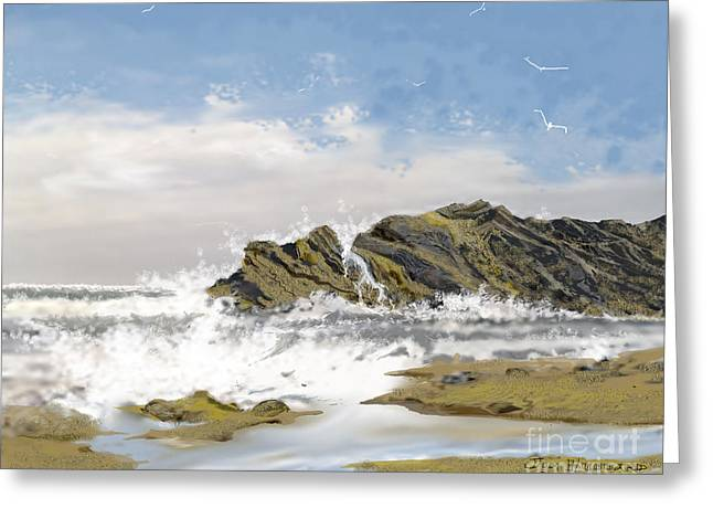 Tide Is Coming In Greeting Card
