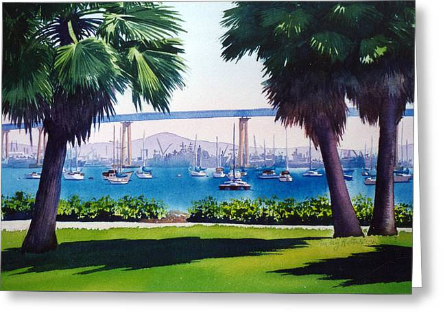 Tide Lands Park Coronado Greeting Card