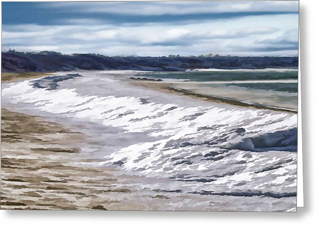 Greeting Card featuring the photograph Tide Line Ice Photo Art by Constantine Gregory