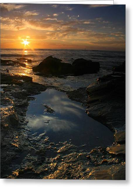 Tide Pool Reflection Greeting Card