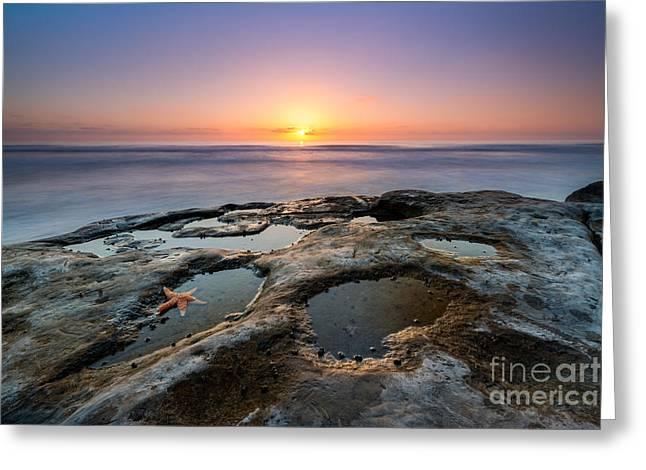 Tide Pool Sunset Greeting Card