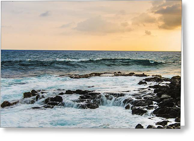 Tide Pool Sunsets In Hawaii Greeting Card by Brandon McClintock