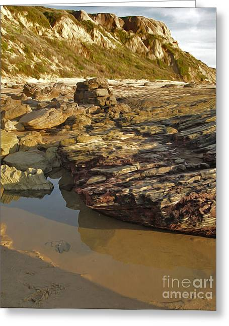 Tide Pools - 01 Greeting Card by Gregory Dyer