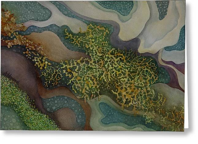 Tidepool Textures Greeting Card by Anne Havard
