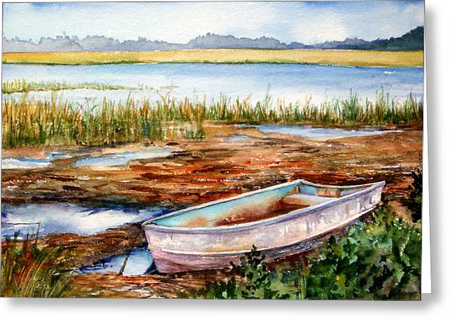 Tides Out Greeting Card by Michael  Pearson