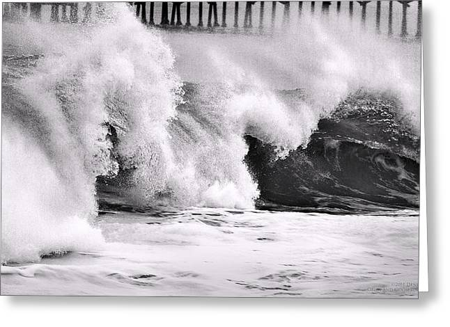 Tides Will Turn Bw By Denise Dube Greeting Card