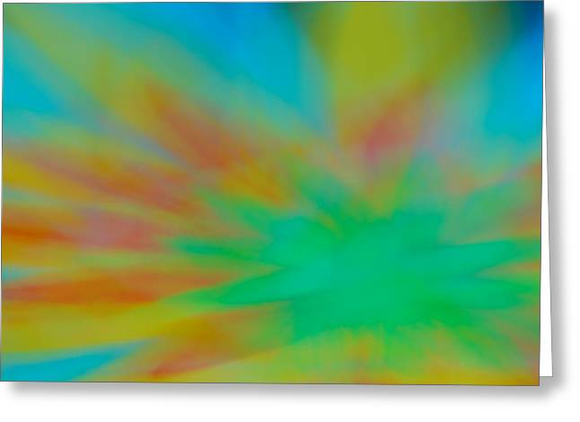 Tie Dye Abstract Greeting Card