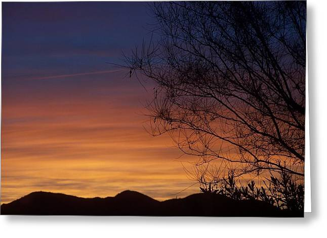 Tie Dye Sky Greeting Card by Christine Drake