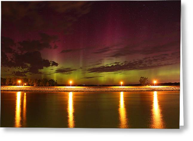 Tie Dyed Sky Greeting Card by Chris Allington
