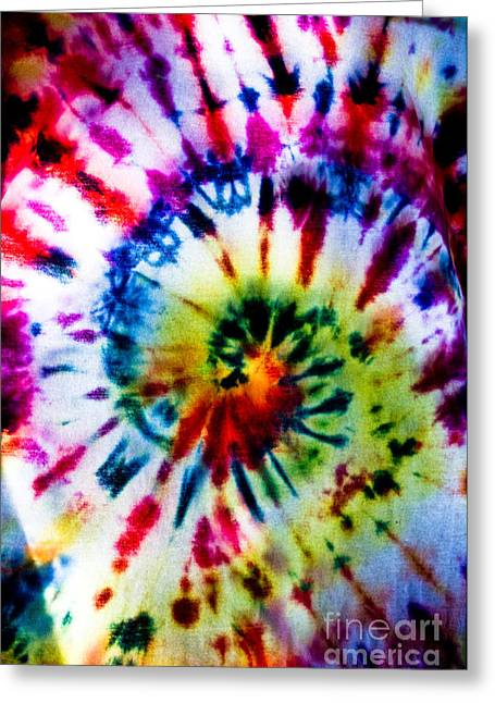 Tie Dyed T-shirt Greeting Card by Cheryl Baxter