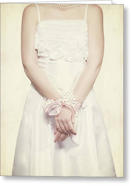 Tied Greeting Card by Joana Kruse