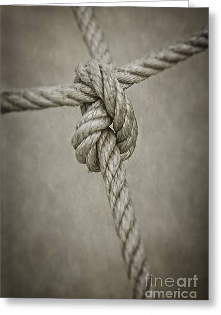 Tied Knot Greeting Card by Carlos Caetano