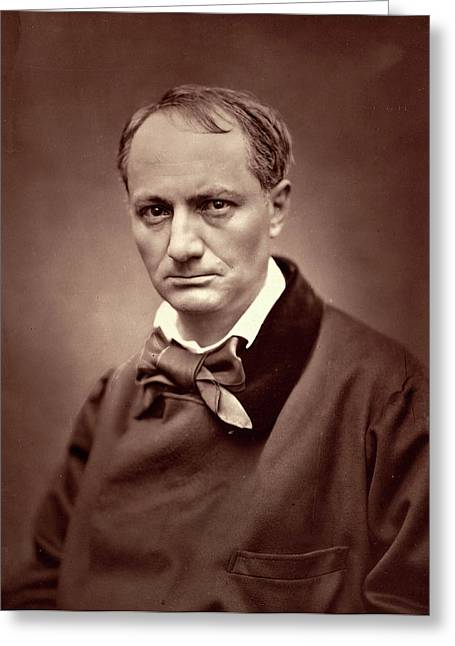 Étienne Carjat, Charles Baudelaire, French Greeting Card by Litz Collection