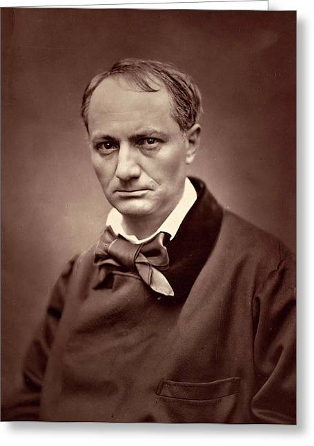Étienne Carjat, Charles Baudelaire, French Greeting Card by Quint Lox