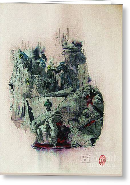 Tiepolos  Death Of Seneca Greeting Card by Roberto Prusso