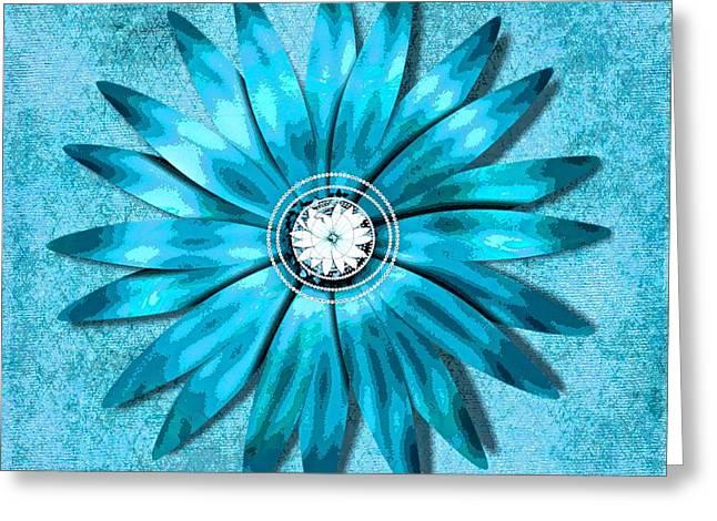 Tiffany Blue And Diamonds Too Greeting Card by Saundra Myles