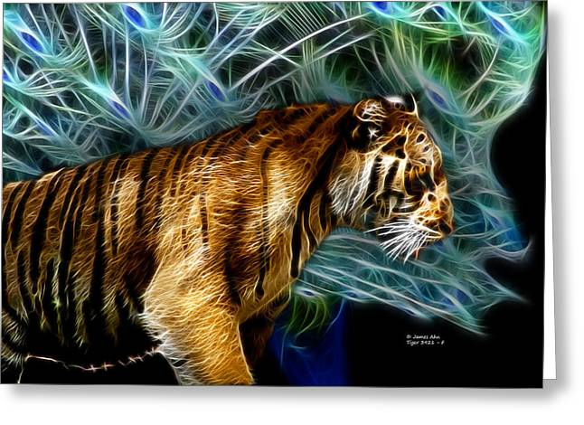 Tiger 3921 - F Greeting Card by James Ahn