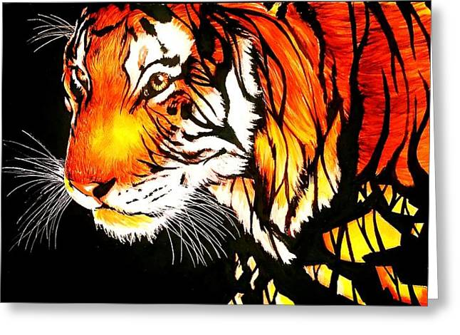 tiger abstract ink painting painting by desire doecette