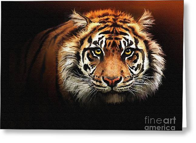 Tiger Bright Greeting Card by Robert Foster
