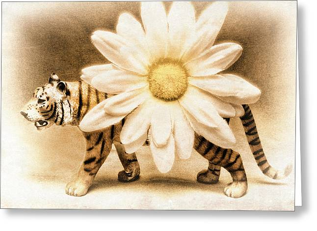 Tiger Dream Greeting Card by Jeff  Gettis