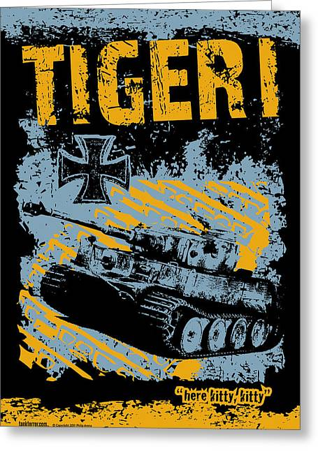 Tiger I Greeting Card by Philip Arena