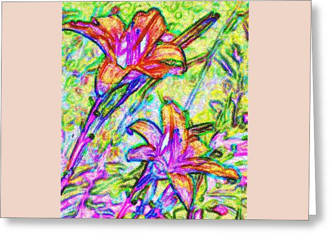 Tiger Lillies Greeting Card