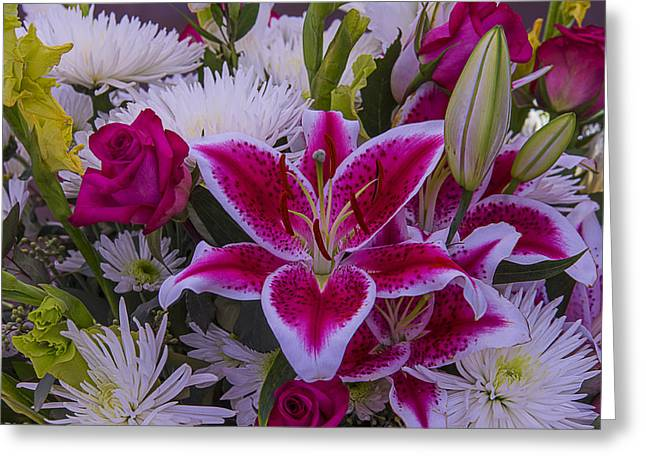 Tiger Lily Bouquet Greeting Card by Garry Gay