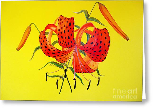 Tiger Lily Bouquet Greeting Card by Joey Nash