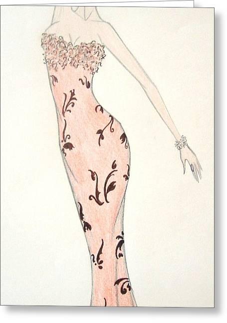 Tiger Lily Dress Greeting Card by Christine Corretti