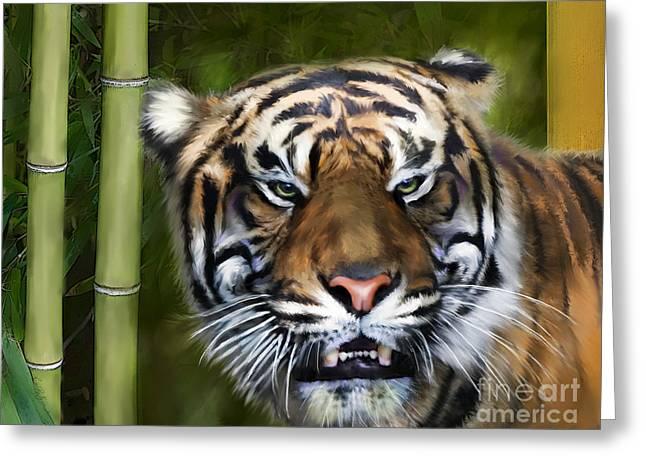 Tiger Greeting Card by Lisa Redfern