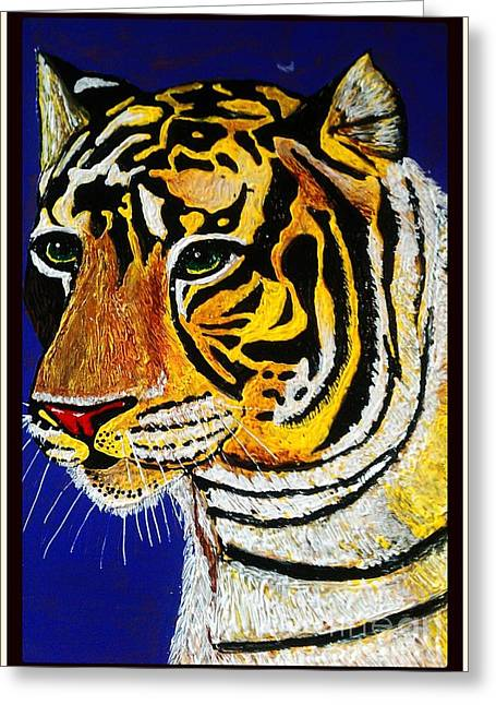 Tiger Greeting Card by Saundra Myles