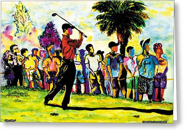 Tiger Slam Greeting Card by Everett Spruill