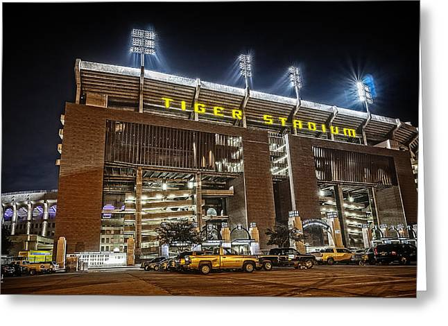 Tiger Stadium Greeting Card by Andy Crawford