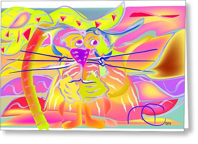 Tiger Sunset Greeting Card by Andy Cordan