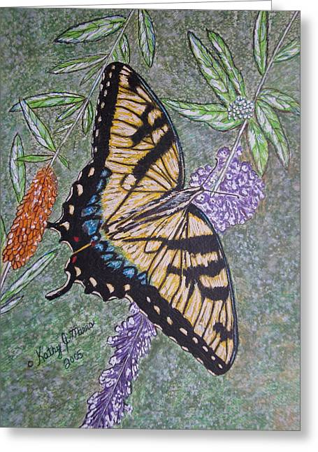 Tiger Swallowtail Butterfly Greeting Card by Kathy Marrs Chandler