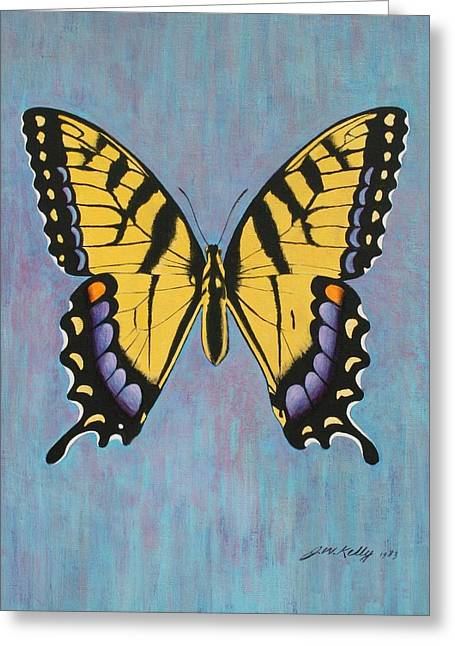 Tiger Swallowtail Greeting Card by J W Kelly