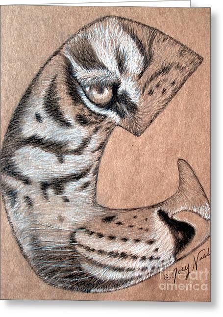 Tiger Tattoo Greeting Card