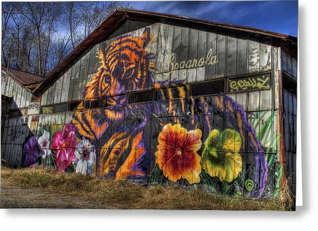 Tiger Tiger Greeting Card by Daniel  Gundlach