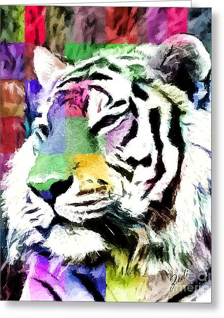 Tiger - Tigre Greeting Card by Ze  Di