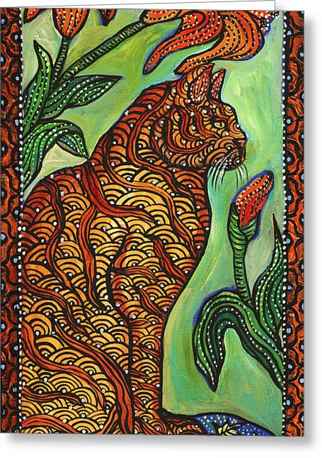 Tigerlily Greeting Card by Melissa Cole