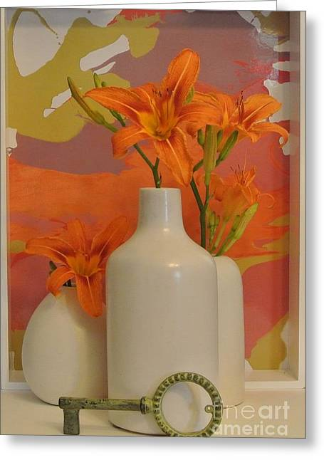 Tigerlily Still Life Greeting Card by Marsha Heiken