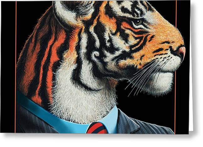 Tigerman Greeting Card by Scott Ross