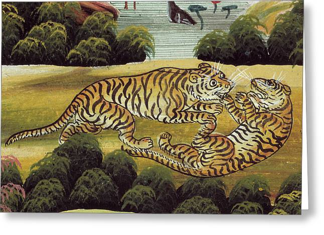 Tigers Greeting Card by British Library