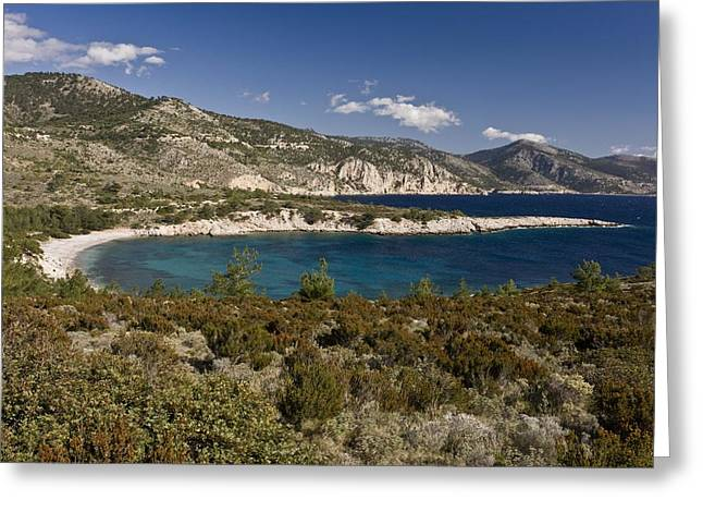 Tighani Bay, Greece Greeting Card