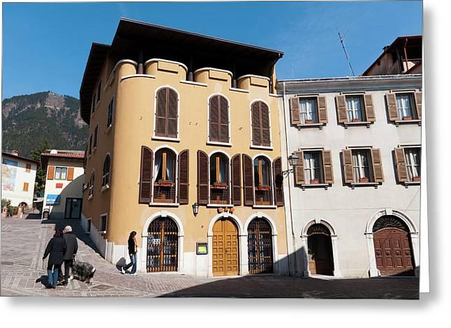 Tignale, Lago Di Garda, Lombardia, Italy Greeting Card by Sergio Pitamitz
