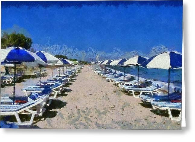 Tigraki Beach In Kos Island Greeting Card