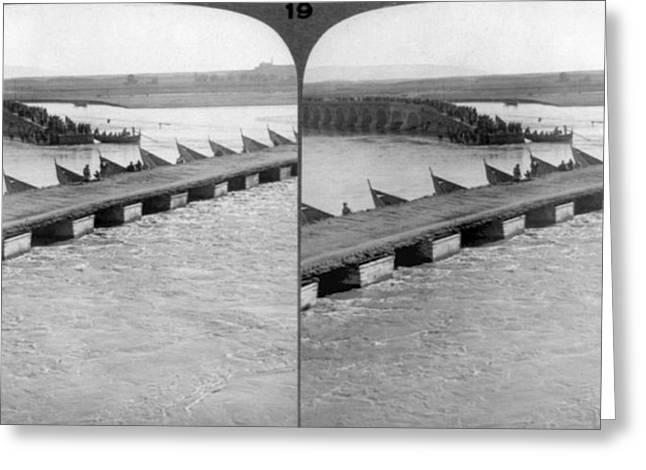 Tigris River Bridges Greeting Card by Granger